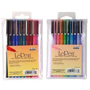 Le Pen 20 Piece Basic & Bright Pen Set Bundle, NIB
